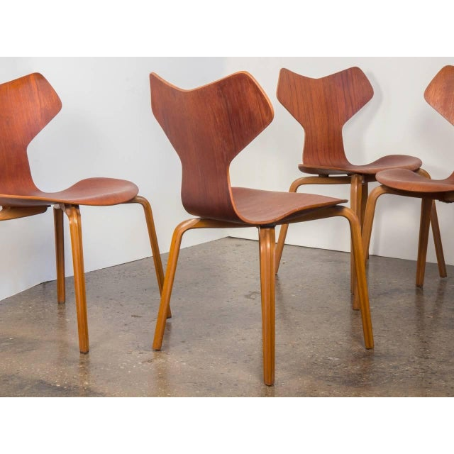 Set of Eight Arne Jacobsen Grand Prix Chairs - Image 3 of 10