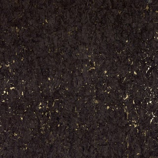 Sample - Schumacher Obscura Wallpaper in Burnished Gold For Sale