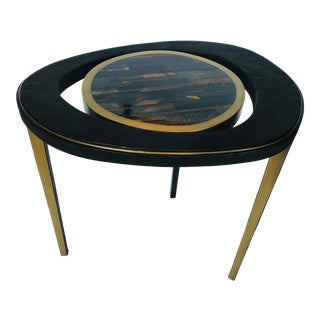 21st Century R & Y Tiger Eye Peacock Table For Sale