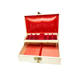 1960s Vintage Mele White Jewelry Box Preview