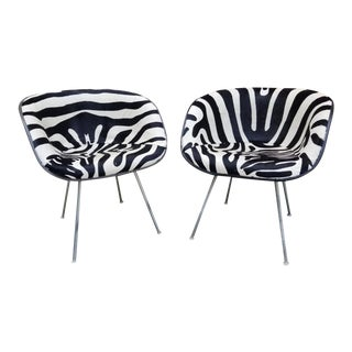 Hollywood Regency Eames La Fonda Chairs Newly Upholstered - Pair For Sale
