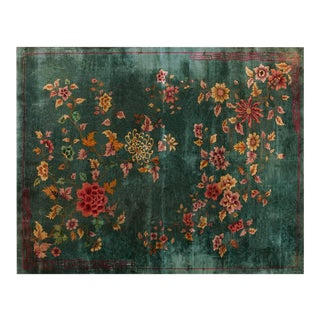 "1920s Chinese Art Deco Rug - 9'x11'6"" For Sale"