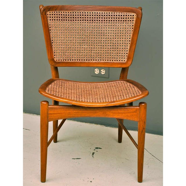 Finn Juhl Walnut & Cane Chairs - a Pair For Sale - Image 5 of 7