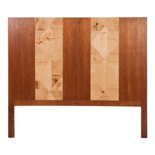 David Francis Crushed Bamboo Queen Headboard