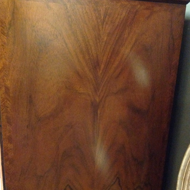 Chippendale 2 Piece Maitland-Smith Walnut Chest on Stand For Sale - Image 3 of 6