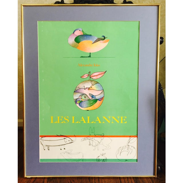 This is a delightful exhibition poster, with beautiful colors. When I purchased, I was told it was a Mourlot print. Les...
