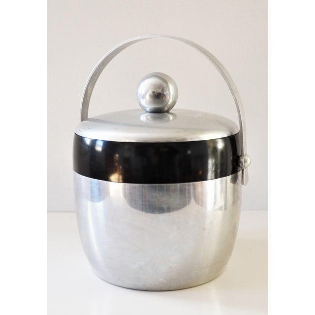 1950s Vintage Spun Aluminium and Bakelite Ice Bucket by Kromex For Sale - Image 9 of 9