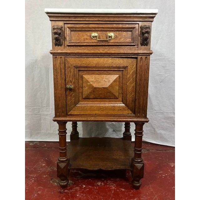 Brown Pair of Oak Belgian 19th Century Side Tables For Sale - Image 8 of 13