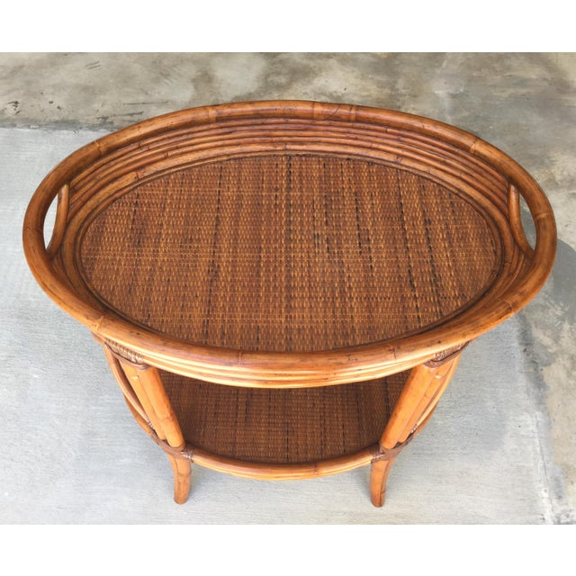 """Ethan Allen Bamboo bar with removable tray. Perfect accent piece and very functional! Height without tray is 31"""""""