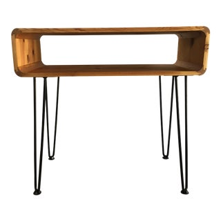 Vintage Mid Century Modern Occasional Writing Desk With Hairpin Legs For Sale