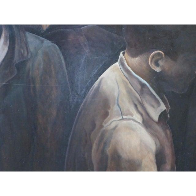 """Modern """"3 Men"""" Portrait Oil Painting Signed Berner 1994 For Sale In Portland, OR - Image 6 of 8"""
