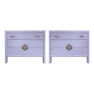 1960s Vintage Century Furniture Chinoiserie Cabinets - A Pair For Sale