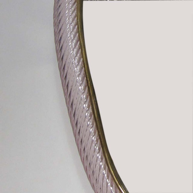 Mid-Century Modern 1960s Ritorto Murano Mirror by Seguso For Sale - Image 3 of 5