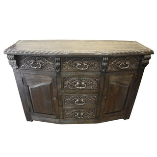 Gothic Louis Handcrafted Solid Wood Buffet Sideboard Preview