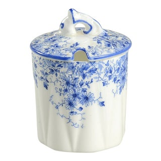 Shelley Dainty Blue Jam/Jelly & Lid For Sale
