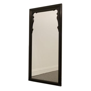 """Century Chin Hua Collection Black Wood 23"""" Mirror For Sale"""