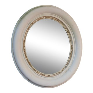 Whitewashed Accent Mirror For Sale