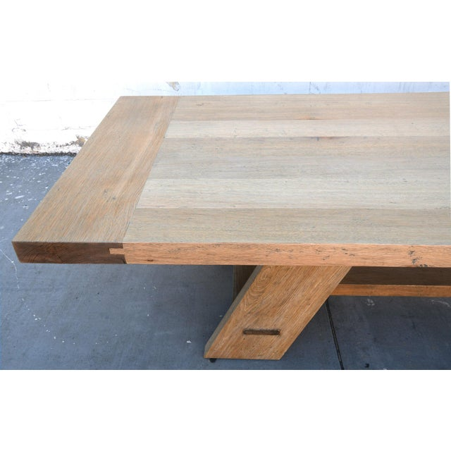 Rustic Banquet Table Made From Rift Sawn White Oak For Sale - Image 10 of 13