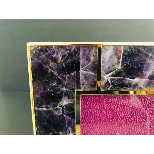 Fabio Ltd Amethyst Photo Frame by Fabio Ltd For Sale - Image 4 of 7