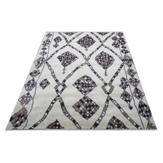 Pasargad N Y Moroccan Hand-Knotted Rug - 6′4″ × 9′ For Sale