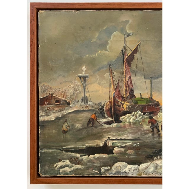 1887 Antique C. Johnson Oil on Canvas Painting For Sale In Chicago - Image 6 of 12