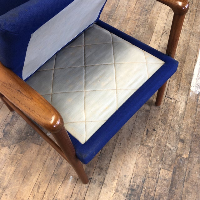 Mid-Century Fritz Hansen Danish Teak Armchair Lounge For Sale - Image 10 of 13