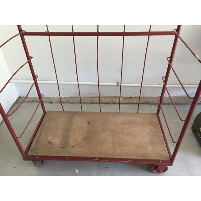 Red Industrial Cart on Wheels - Image 5 of 6