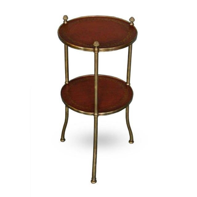 De Wolfe Muffin Table - Brass - Image 4 of 4