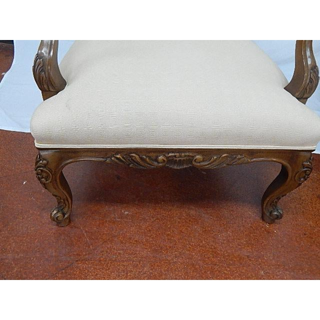A Pair of Baker Furniture French Style Carved Arm Chairs - Image 7 of 7