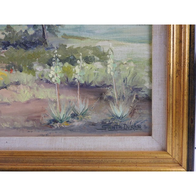 Impressionist Texas Landscape Painting by Santa Duran For Sale - Image 3 of 4