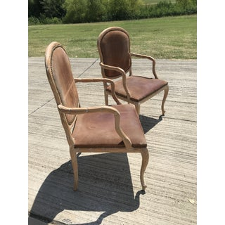 Vintage Mid Century Italian Hand Carved Wood Armchairs- a Pair Preview