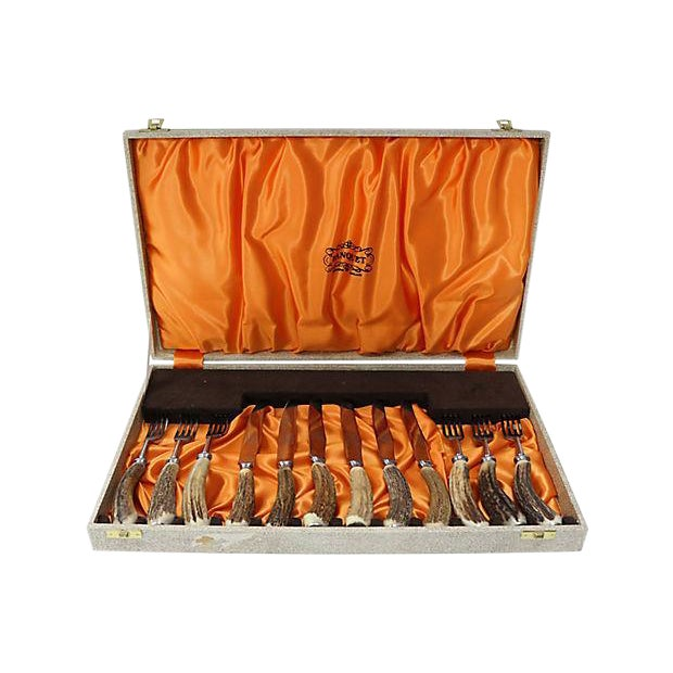 English Sheffield Stag-Horn Steak Set - Image 1 of 5