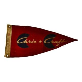 Vintage Chris Craft Boat Flag Pennant Framed For Sale