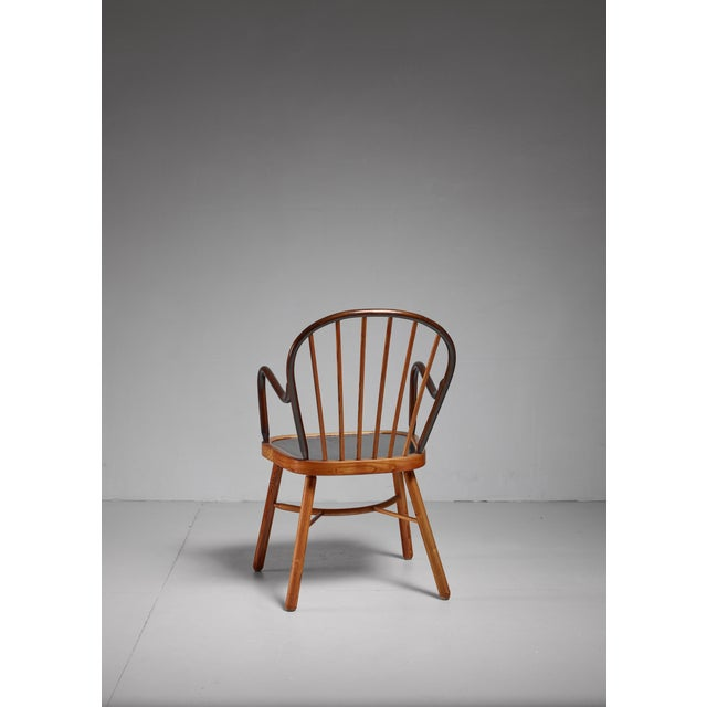 Spindle chair, Austria, 1920s For Sale - Image 4 of 5