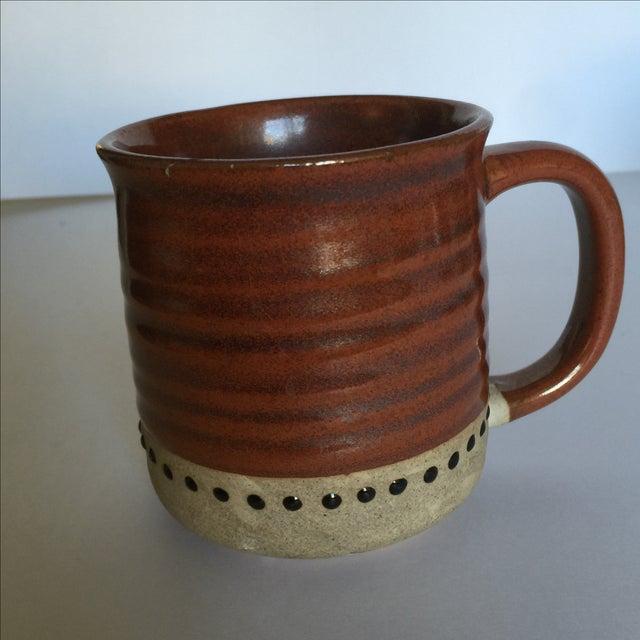 Vintage Pottery Mugs - Set of 5 - Image 6 of 11