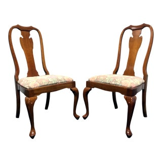 Harden Solid Cherry Queen Anne Dining Chairs - A Pair For Sale