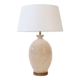 Ecru Ceramic Vase Lamp For Sale