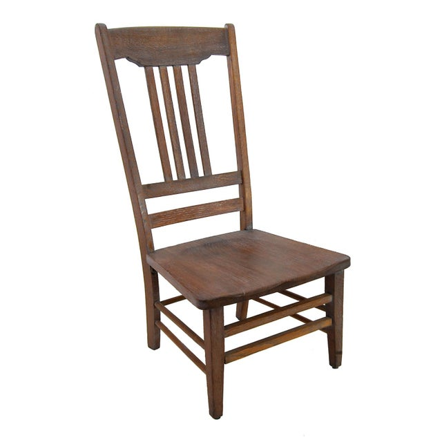 Low-Seat Vintage Teacher's Chair - Image 1 of 2