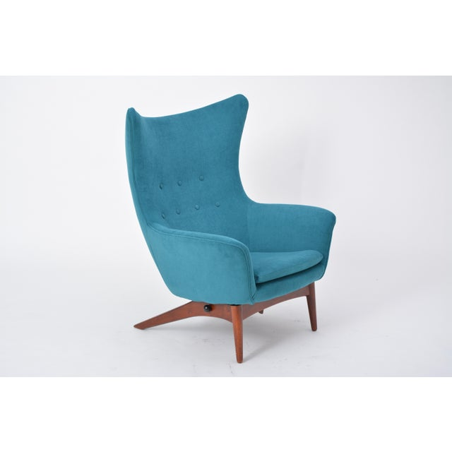 Reupholstered Model 207 Reclining Lounge Chair Designed by h.w. Klein For Sale - Image 12 of 12