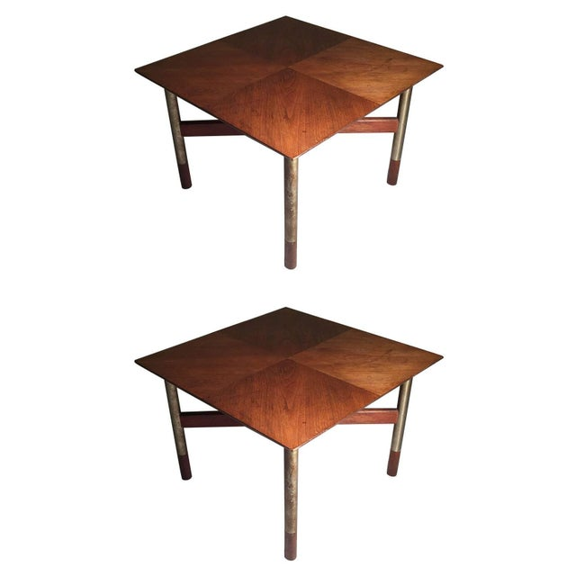 Brown Rare Pair of Arne Vodder End Tables For Sale - Image 8 of 8