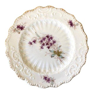 1800's Antique Hand Painted Victorian Plate