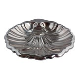 Image of Vintage Silver-Plated Shell Nut Dish For Sale