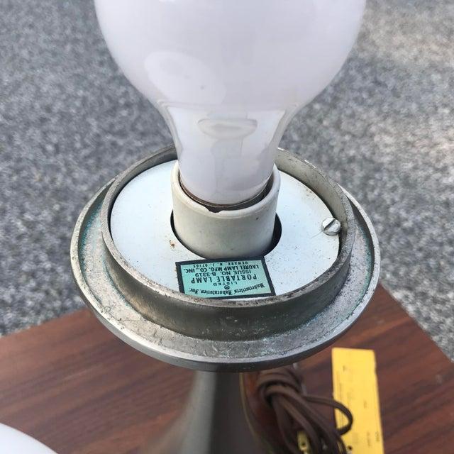 Laurel Mushroom Lamp in Satin Chrome For Sale In Philadelphia - Image 6 of 13
