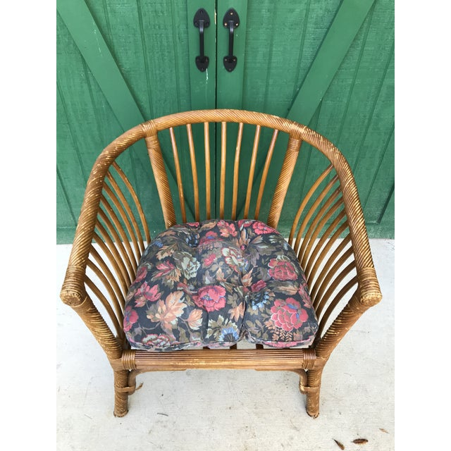 1950s 1950s Boho Chic Franco Albini Bamboo Side Chair For Sale - Image 5 of 11