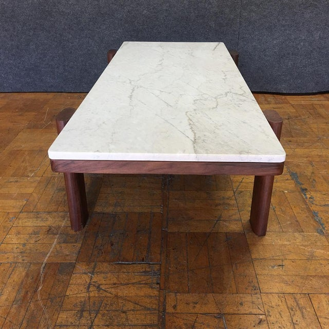 Walnut & Marble Coffee Table - Image 9 of 9