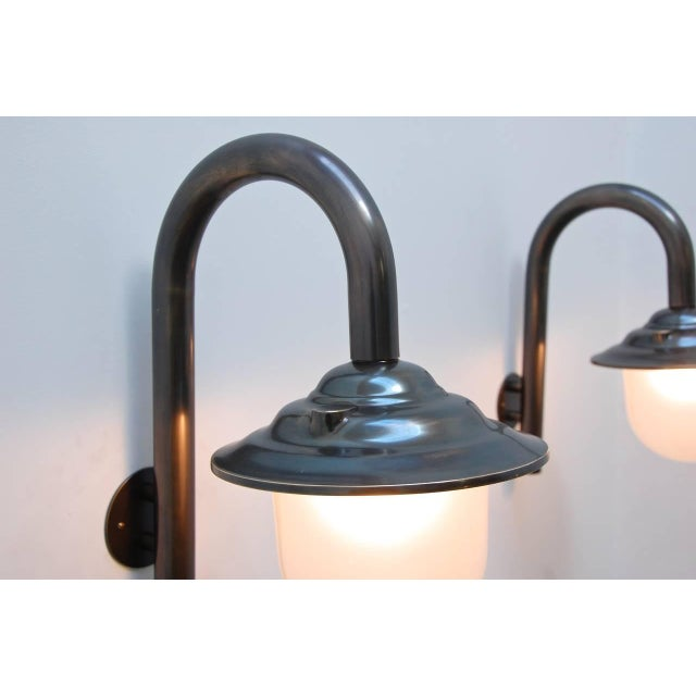 Silver Italian Exterior Wall Fixtures For Sale - Image 8 of 10