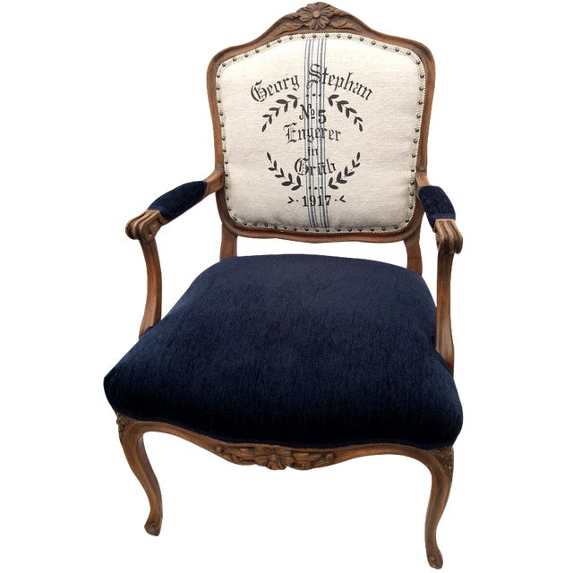 Antique Grain Sack French Bergère - Image 1 of 5