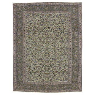 20th Century Persian Yazd Area Rug - 9′8″ × 12′8″ For Sale