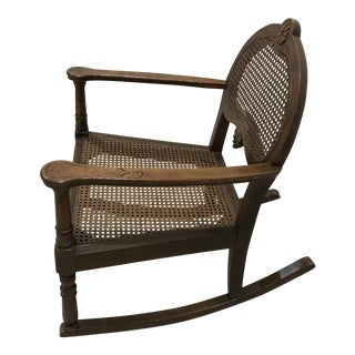 Small Child Size Wooden Rocker