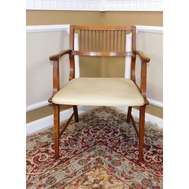 Vintage Lane Furniture Walnut Dining Chairs - Set of 4 - Image 7 of 11